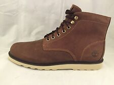 Timberland Men's Earthkeepers Newmarket Leather Brown Ankle Shoes Syle #6814A
