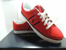~SALE~Polo Ralph Lauren Men's Bolingbrook Canvas Sneaker Grey?Red Thanks Giving