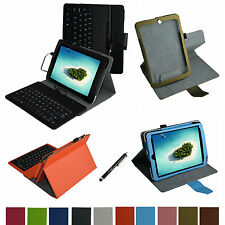 "For 7.85"" Nextbook NX785QC8G Tablet PC Rotary Case+Removable USB Keyboard+Pen"