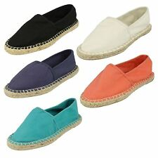 Ladies Spot On Stitched Espadrille