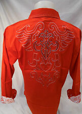 Mens Victorious Tribal Wings Button Down Shirt Red Roar With Style L XL 2XL 3XL
