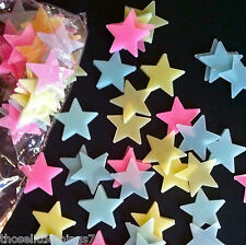 Glow in the dark stars plastic shapes for bedroom ceiling wall kids nursery
