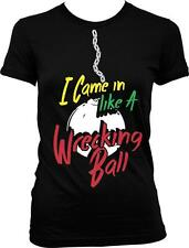 I Came In Like A Wrecking Ball Miley Funny Cyrus Humor Parody Juniors T-shirt