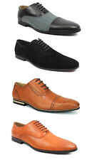 New Men's Black Ferro Aldo Dress Shoes Cap Toe Lace Up Oxfords Leather Lining