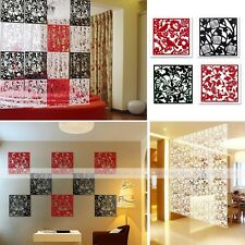 4pcs Plastic Hanging Screen Partition Room Divider Wall Sticker Home Hotel Decor
