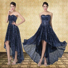 XMAS Masquerade Sequins Evening Cocktail Party Prom Bridesmaid high-low Dresses