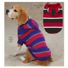 NEW Zack & Zoey HOODED Striped Knit Dog Pet Sweater Small S/M Medium Large