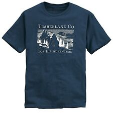 NWT Timberland Men's Short Sleeve For The Adventure Blue Tshirt Style #TT057
