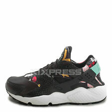WMNS Nike Air Huarache Run Print [725076-001] NSW Running Aloha Pack Black/Teal