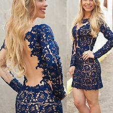 Women's Summer Bandage Bodycon Lace Evening Party Cocktail Short Sexy Mini Dress