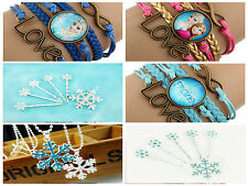 CHOICE OF FROZEN STYLE BRACELETS NECKLACES AND HAIR CLIPS/ SLIDES FILM REPLICA