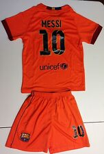 Barcelona 2014-2015 Kids Away #10 Messi Jersey and Shorts Youth Sizes