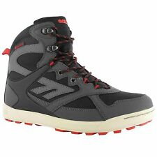 HI-TEC MENS PHOENIX BLACK WATERPROOF OUTDOORS TRAIL WALKING HIKING BOOTS SHOES