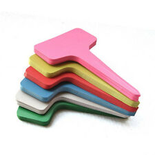 50 PCS Plastic Plant T-type Tags Markers Nursery garden color yard 4x2.4 inch