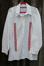 Hand embroidered Men's Guayabera Shirt - from Ejutla de Crespo de Oaxaca, Mexico