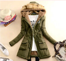Women's ladies thicken Hooded velvet liner winter cotton coats quilted jackets