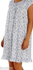 NWT LG XL Eileen West Floral Short Mid-Knee Cotton Blend Nightgown Cap Sleeve