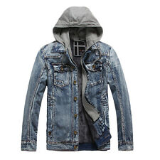 CHEAP MONDAY ON SALE Men's Thicken Warm Outwear Hoodies Denim Coat Jacket Parkas