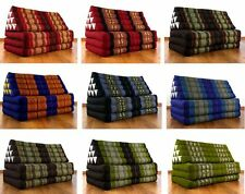 Foldable Thai Mat Jumbo XXL Triangle Asia Cushion Headrest & 100% Kapok Filling