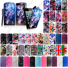 For Apple Phone Models New Printed PU Leather Magnetic Flip Case Cover + Stylus