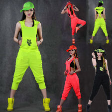 New Hip Hop Dance Costume wear loose jazz harem sports one piece Pants jumpsuit