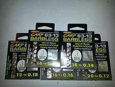 Middy Hooks to Nylon Carp Barbless Various sizes Pay 1 Postage on multi buys!