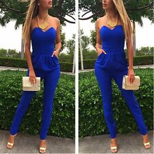 Clubwear Blue Sexy Women Clothes Cocktail Party Bandage Bodycon Jumpsuit Dress