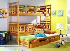 KUBUS 3B for 3 persons triple BUNK BED Free P&P with foam mattresses and drawers