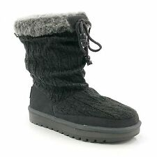 "New! Skechers Womens Keepsakes-""Blur"" Low/Mid Calf  Boots #46653 in Gray   93D"