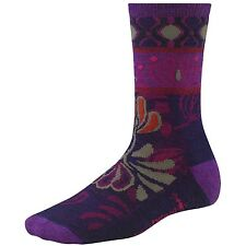 New Women's SMARTWOOL Reflections Flower Casual Crew Socks Merino Wool Small
