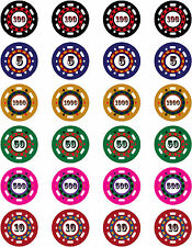 Poker Casino Game Chips Edible Cake Toppers Gambling Birthday Mens Party Cards
