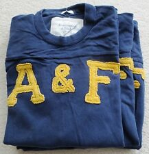 Abercrombie & Fitch Men's Muscle 3/4 Sleeve AF Patch T-Shirt Sweat Shirt