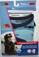 Fruit of the Loom NWT Boys 4 5 Blue Camouflage 2 Pc Thermal Underwear Set