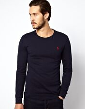 Polo Ralph Round Neck T-shirt Navy Long Sleeve Brand New