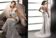 New White/ivory Wedding dress Bridal Gown custom size 6-8-10-12-14-16