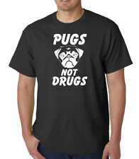 Pugs Not Drugs T shirt - Funny Dog Fashion Retro Cool Pet Joke Pug Ideal Gift