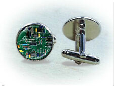Green Circuit Board Cufflinks / Tie Clip - Gifts for Computer Professionals