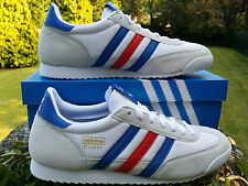 Adidas Originals Mens Dragon Retro Running Trainers Red White Blue 6 - 12 BNIBWT