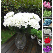 Artificial Silk Fake Flower Bunch Bouquet Hotel Garden Decor Hydrangea