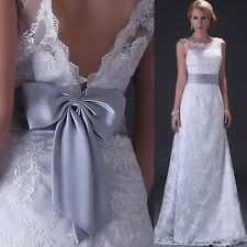 NEW STOCK White Lace Wedding Dress Bride Bridal Dresses Size 2-4-6-8-10-12-14-16