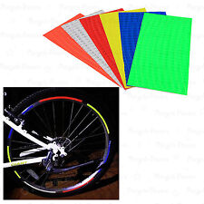 Fluorescent Cycling Bike Bicycle MTB Wheel Rim Decal Reflective Stickers LOT