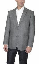 Club Room Classic Fit Gray Herringbone Two Button Wool Blend Blazer Sportcoat