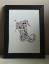 Christmas Stocking Personalised Word Art Gift - Unique and thoughtful