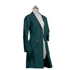 Custom Made  Womens Four Pocket 37 Inch Long White & Colored Lab Coat