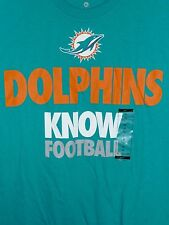 "MIAMI DOLPHINS ""DOLPHINS KNOW FOOTBALL TEE SHIRTS MADE BY NIKE"