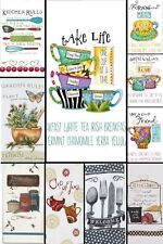 "Kay Dee Flour Sack Kitchen Dish Towel 100% Cotton 18""x28"" FRIENDS KITCHEN GARDEN"