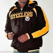 Pittsburgh Steelers NFL Licensed Heavy Polyfilled  Hooded Jacket Medium or XL