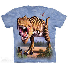 Striped Rex Kids T-Shirt by The Mountain. Dinosaurs Big Face Sizes S-XL NEW