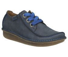 Clarks Womens Casual Shoe Funny Dream Lace Up Navy Nubuck