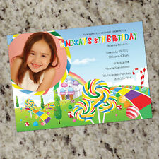 Candyland Themed Birthday Party Invitations - as low as .60, shipped!